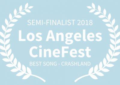 SEMI-FINALIST, 2018 Los Angeles CineFest, BEST SONG, Crashland