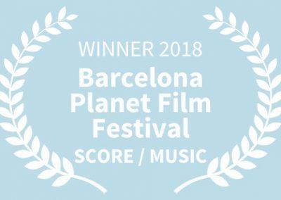 WINNER, 2018 Barcelona Planet Film Festival, SCORE MUSIC